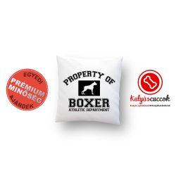 Boxeres párna - Boxer díszpárna Property of boxer 40x40cm