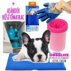 Pet Cool Mat Hűsítő matrac 30x40 + Auto Dog Mug Kutyakulacs + Mud Buster Mancsmosó + True Touch Szőrápoló kesztyű AKCIÓS CSOMAG