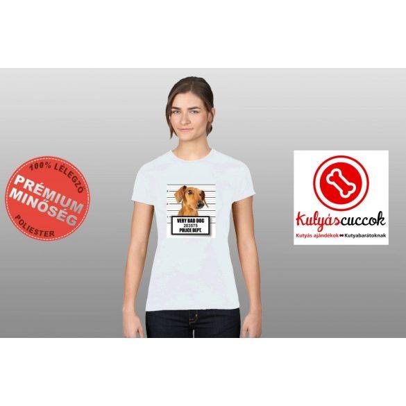 Tacskós Női Póló - Tacskó Very Bad Dog mintával