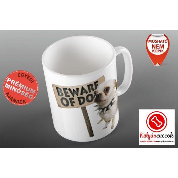 Bögre - Csivava Beware Of Dog grafikával