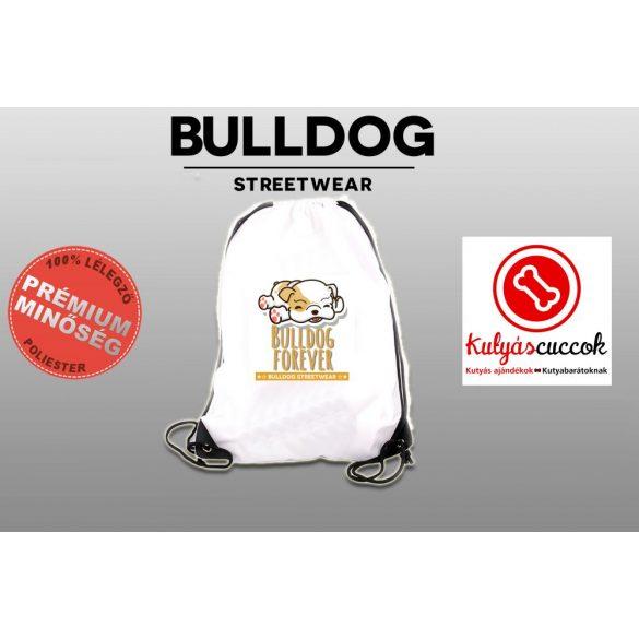 Tornazsák - Bulldog Streetwear Bulldog Forever barna mintával