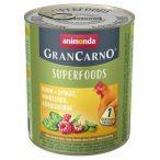 Animonda GranCarno Adult Superfoods Csirke + spenót, málna, tökmag  800g