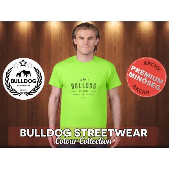 Bulldog Streetwear Férfi Póló - Vintage Western fekete logó mintával Különböző színben