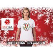 Bulldogos Karácsonyi Női Póló - Bulldog Streetwear Merry Bullie Christmas mintával
