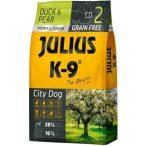 Julius-K9 GF City Dog Puppy & Junior Duck & Pear - Gabonamentes Szuperprémium táp Kacsával és Körtével 340gr.
