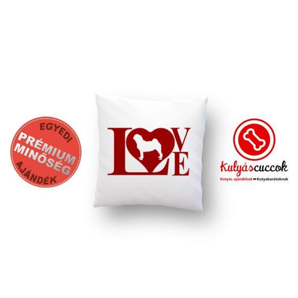 Mopszos párna - Mopsz Red Love 40x40cm