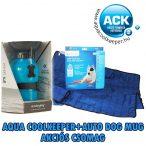 Aqua Coolkeeper hűtőpléd/hűtőmatrac/hűtőtakaró L 80x60cm + Aqua Dog  Kutyakulacs AKCIÓS CSOMAG
