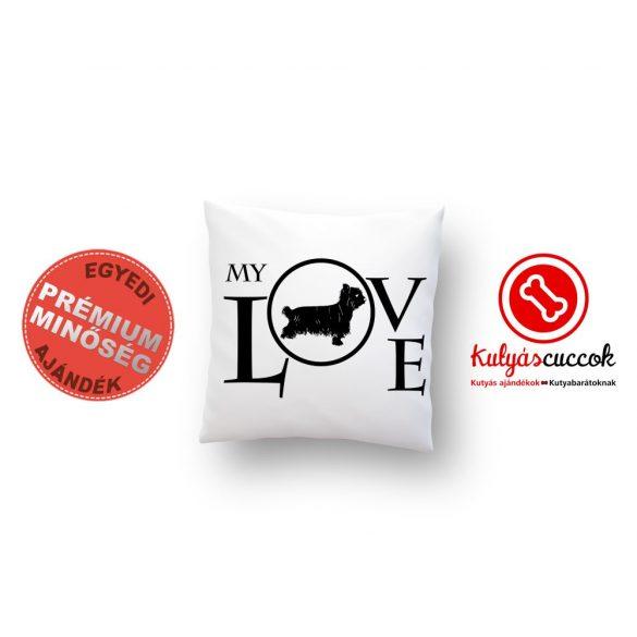 Yorkies párna - Yorkshire terrier díszpárna My Love 40x40cm