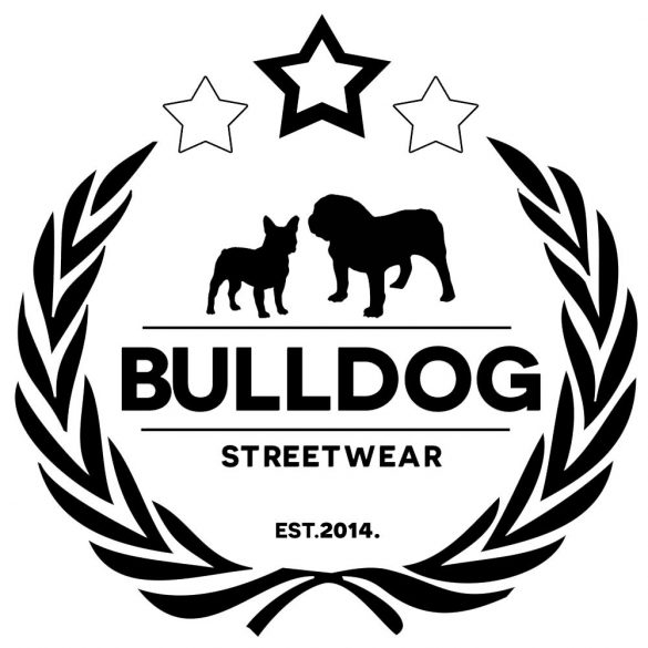 Bulldogos Bögre - Bulldog Streetwear koszorós logo grafikával