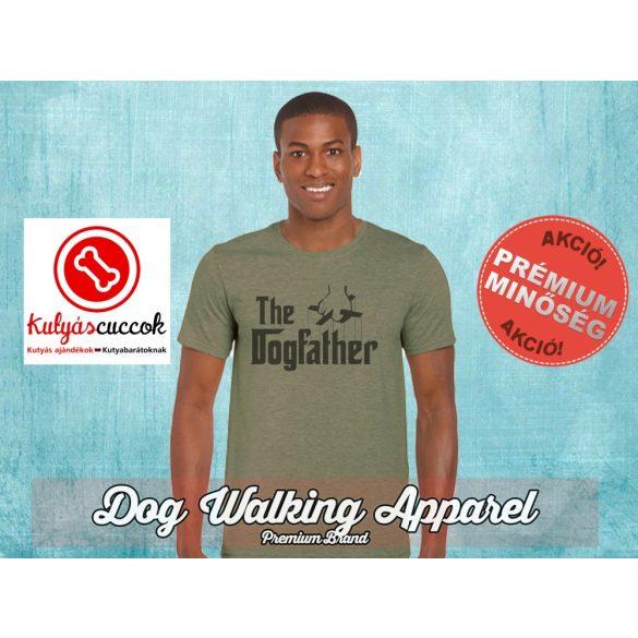Dog Walking Férfi Póló - The Dogfather mintával  Minden méretben és több színben
