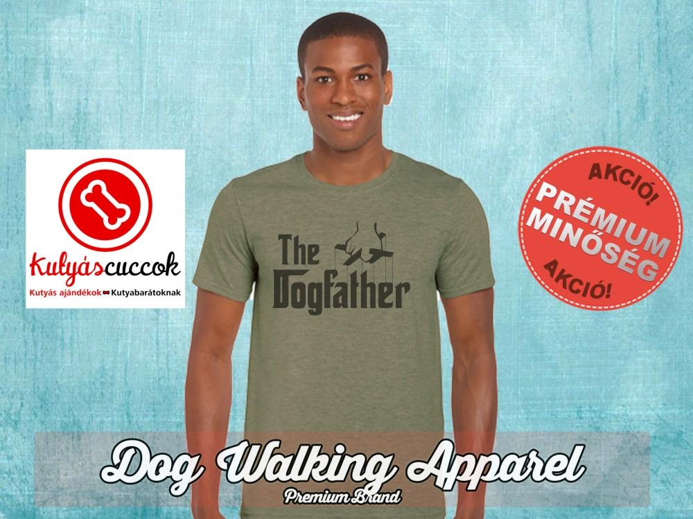 Dog Walking Férfi Póló - The Dogfather mintával Minden méretben és több  színben 9f5ade1955