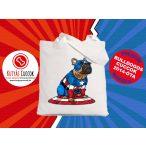 Bulldogos vászontáska Comic Kollekció Captain Frenchie mintával