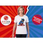 Bulldogos Női Póló - Bulldog Streetwear Comic Kollekció Captain Frenchie mintával