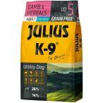 Julius-K9 GF Hypoallergenic Utility Dog Adult Lamb & Herbals 2 zsák 2x10kg + AJÁNDÉK VÁLASZTHATÓ 2.990 FT ÉRTÉKBEN! - Gabonamentes Szuperprémium táp Báránnyal és Gyógynövényekkel 10kg.