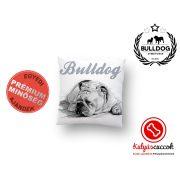 Párna Bulldog Angol Bulldog Fekete-fehér rajz 35x35cm