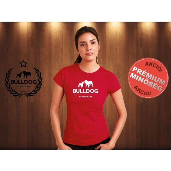 Bulldog Streetwear Női Póló - Klasszikus Logó mintával Szín: Piros