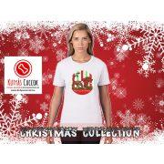 Tacskós Karácsonyi Női Póló - Dachshund Merry Christmas mintával