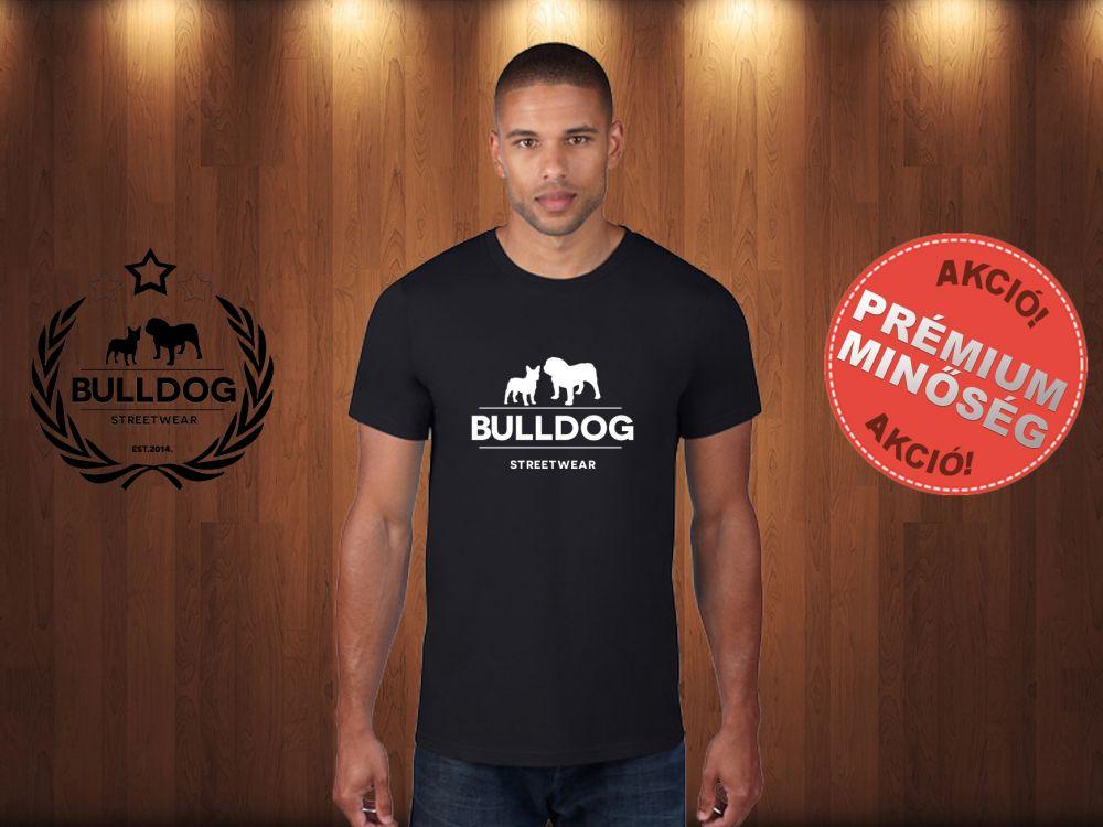 c980533af2 Bulldog Streetwear Férfi Póló - Klasszikus Logó mintával Szín: Fekete