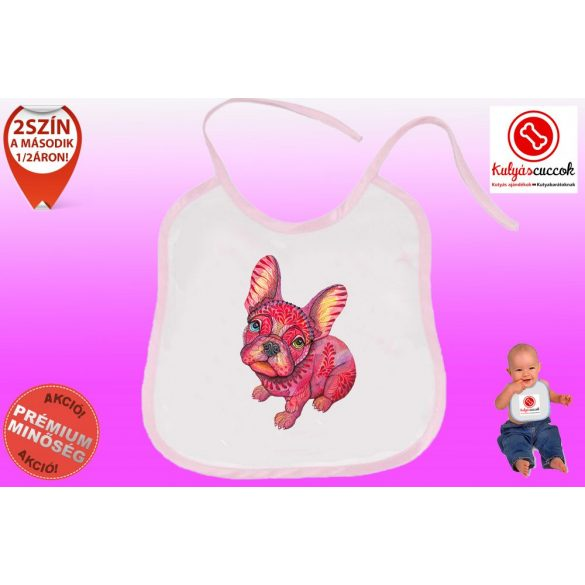 Előke - Bulldog Streetwear BulldogArt piros mintával