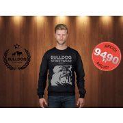 Bulldog Streetwear Férfi pulóver - Fekete - Bulldog Steetwear Est.2014. bulldog mintával