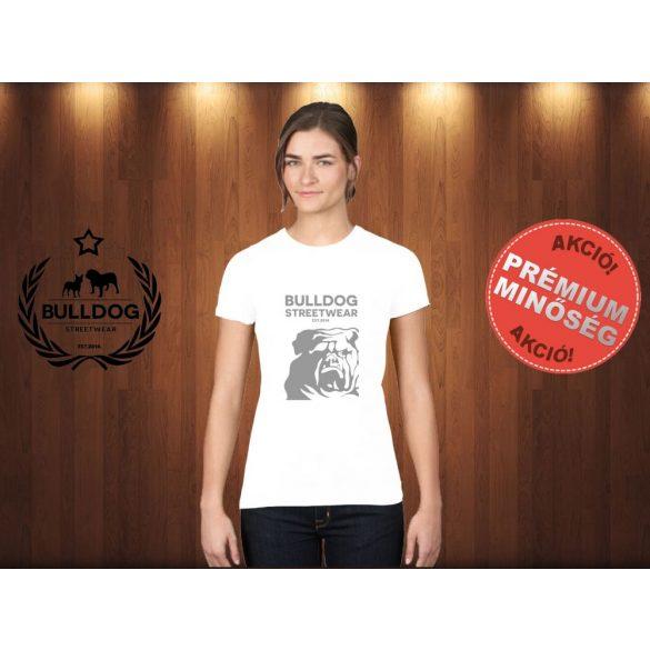 Bulldog Streetwear Női Póló - BSW Est.2014. angol bulldog mintával