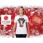 Bulldogos Karácsonyi Női Póló - Bulldog Streetwear Frenchie Christmas mintával