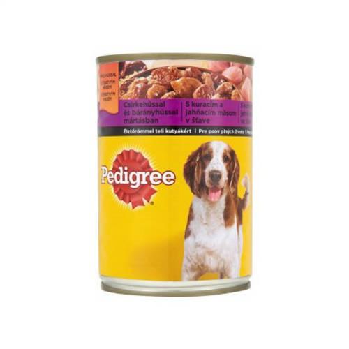 PEDIGREE 400g konzerv csirke-bárány