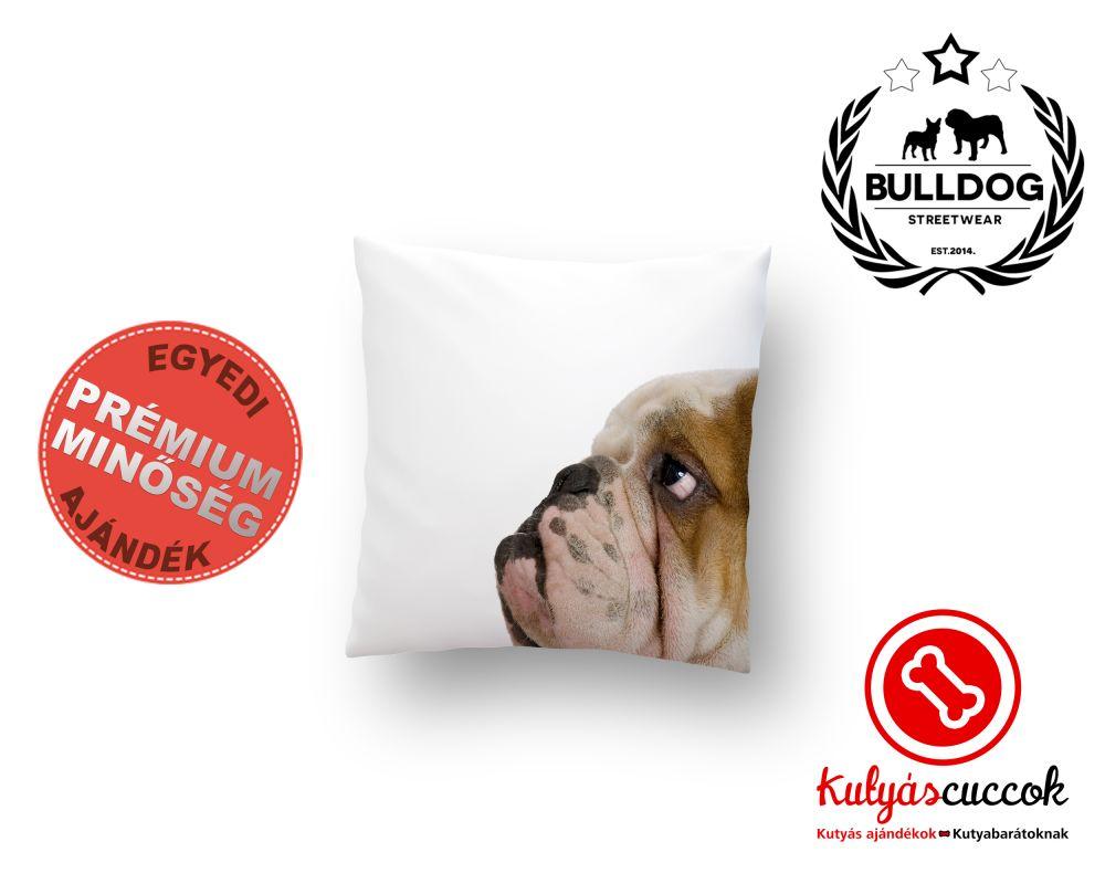 Párna Bulldog Angol Bulldog Fej 40x40cm