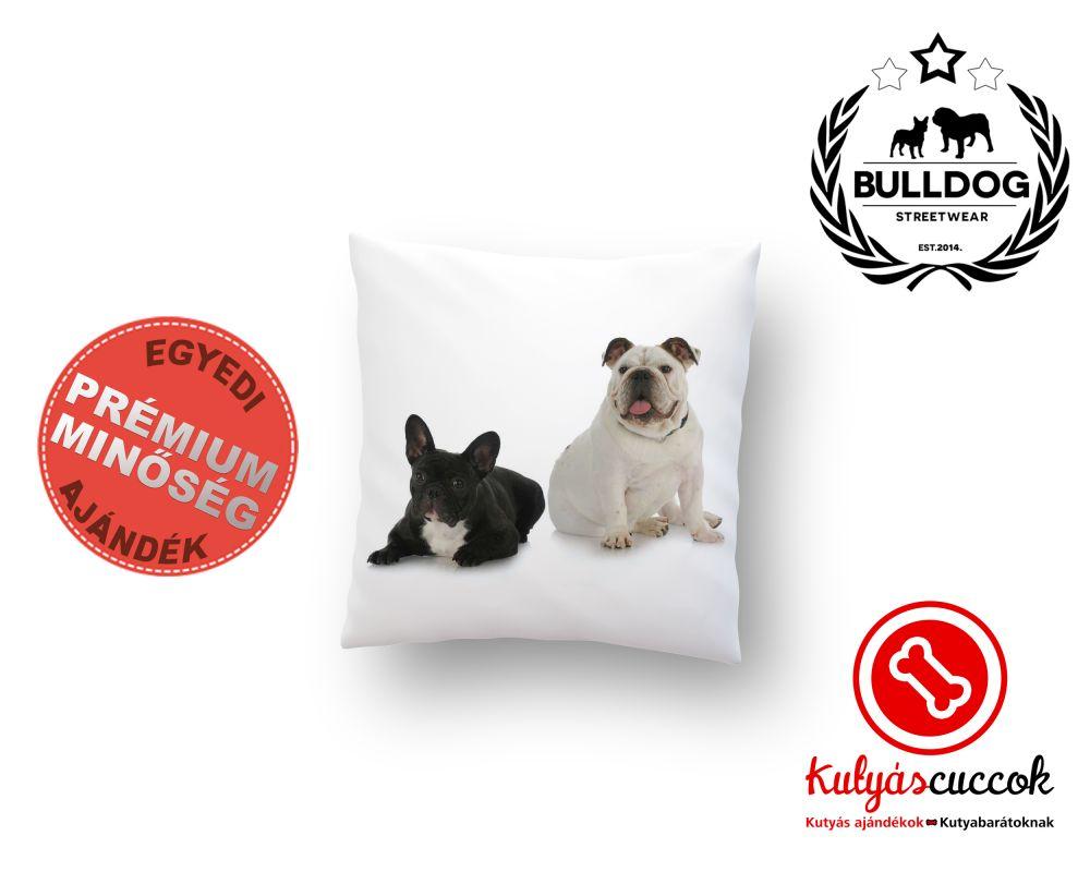 Párna Bulldog Angol és Francia Bulldog 40x40cm